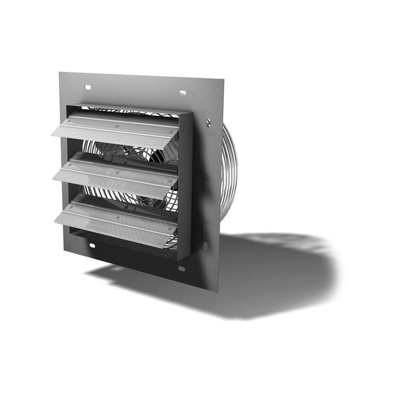Crawl Space Shutter Fan with Humidistat